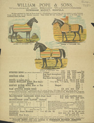 Advert for William Pope & Sons, horse rugs